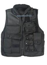 Us Swat Airsoft Tactical Hunting Combat Vest Size M Black