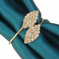 12X Rhinestone Napkin Rings Handmade Serviette Buckle Holder Wedding Dinner