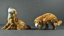 Zsolnay Hungary Vintage Porcelain Dogs