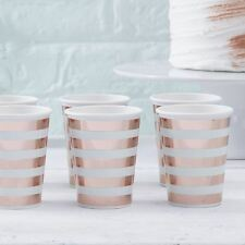 Mint & Rose Gold Paper Cups x 8 Baby Showers Parties Weddings