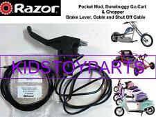 Razor Dunebuggy Go Cart Pocket Mod Chopper Brake Lever Assembly w/ ShutOff Cable