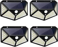 222 LED Solar Powered PIR Motion Sensor Security Wall Lights Outdoor Garden Lamp