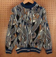 vtg Far Horizons Australia sweater MEDIUM abstract print cosby ugly 80s 90s