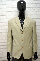 GIANFRANCO FERRE Uomo 52 Giacca Beige Blazer Lana Jacket Man Made in Italy Jacke