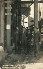 MINERS LEAVING MINE SHOP, WALLOWEA MINE, MO RPPC 1940
