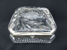 Fine Large Pairpoint ABP Brilliant Cut Glass Square Hinged Dresser Jewelry Box