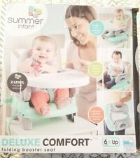 Summer Infant Deluxe Comfort Folding Booster, Elephant Love *Open Box/New*