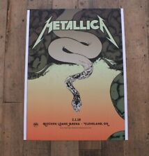 Original METALLICA Worldwired Tour VIP Concert Poster 1st Feb 2019 Cleveland