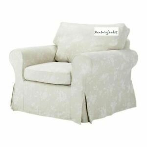 ' New Original IKEA cover set for Ektorp armchair in REDEBY BEIGE FLORAL RARE