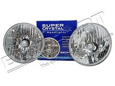 "LAND ROVER DEFENDER, SERIES & RR CLASSIC 7"" CRYSTAL HALOGEN HEADLAMP PAIR LHD"
