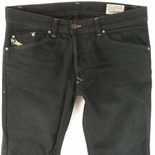 Mens Diesel DARRON 008QU Slim Tapered Black Jeans W32 L30