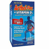 21st Arthri flex + Vitamin D3 with Hyaluronic Acid 120ct Tablets -Exp 11-2020