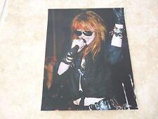Guns & Roses Axl Rose Vintage Live 8x10 Color Music Photo #1