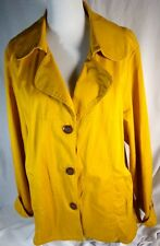 Women's AMI Light Jacket Coat Yellow Orange Fall Winter Cotton Blend Button  2X