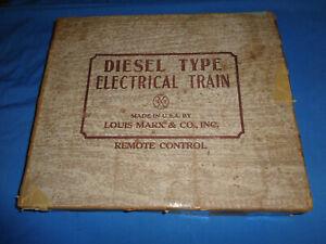 Marx Set Box #8852 Diesel Type Electric Train Set