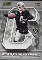 2018 Score Football Captains Insert Singles (Pick Your Cards)