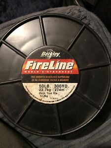 Berkley Fireline Braid 50lb Smoke/Black 300yards