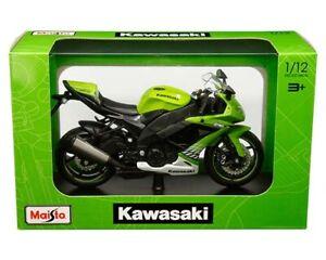 Kawasaki Ninja ZX-10R Maisto 1:12 Scale - Green - New in Stock - Ready to Ship