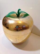 BAC à Glaçons  Pomme dorée avec feuille   Seau à glace an 70's  nov29M