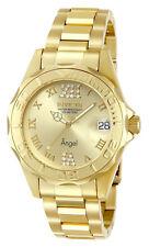 Mujer Pulsera Invicta Reloj Crystal Woman Bracelet Watch Oro Gold Steel Case Arm