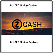 Zcash (0.1 ZEC) Mining Contract 1 Hour Get 0.1 ZEC Guaranteed