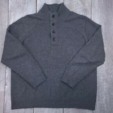 Orvis Berkshiere 1/4 Zip Pullover Sweater Mens XL Gray Wool Long Sleeve SW27