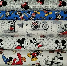 DISNEY MICKEY MOUSE / CHARACTER Cotton Fabric by the 1/4 Yard for Face Mask 43