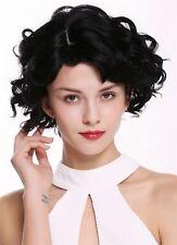 wig Me Up PERRUQUE pour femme court ondulé Wilde ARBRE séduisant NOIR PROFOND