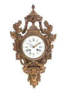Samuel Marti Medaille De Bronze Paris Figural Cartel Wall Clock 1860 French