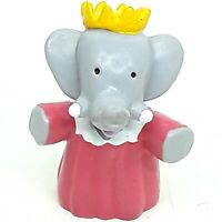 Babar Elephant figure toy doll figurine Small Vintage 1980s