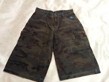 Airwalk Boys Combat/Cargo Camouflage Shorts Size 13yrs
