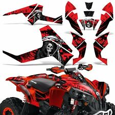 Graphic Kit CanAm Renegade X/R ATV Quad Decals Wrap Can Am 500/800/1000 REAP RED