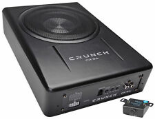 "Crunch CR-8A 400 Watt 8"" Powered Slim Under-Seat Car/Truck Subwoofer Sub"