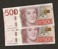 More details for 2015 sweden  500 kronor new series  uncirculated !!!