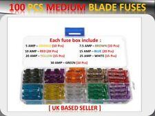 100PCS BMW VEHICLEs MEDIUM BLADE FUSES BOX *5 7.5 10 15 20 25 30 AMP*