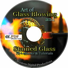 Learn Stained Paint Glass Blowing 70 Books 40 Videos Manuals Kit Supplies
