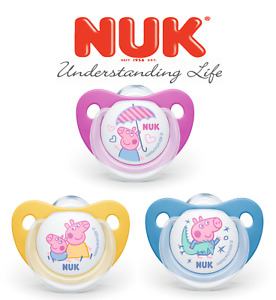 NUK Peppa Pig George Suzy Sheep Soother Silicone BPA Free Pacifier