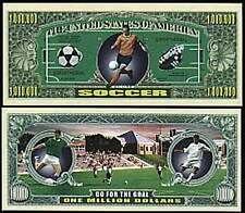 Soccer ~Go For the Goal Million Dollar Bill Collectible Funny Money Novelty Note