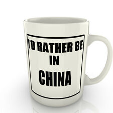 I' prof Rather être dans un Chine - Tasse comme cadeau nouveauté voyage