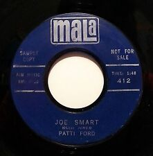 PATTI FORD : JOE SMART / DREAMY (MALA 412) 60's GIRL TEEN VOCAL RARE 45RPM PROMO