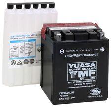 Yuasa YUAM62H4L YTX14AHL-BS High Performance Motorcycle Battery 12V 12Ah 210CCA