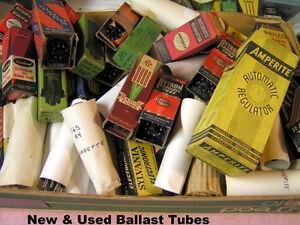Ballast Tubes Radio  TV Auto Several Styles & Values & Types  NOS  CHOICE