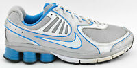 WOMENS NIKE SHOX QUALIFY + 2009 RUNNING SHOES SIZE 11 WHITE SILVER BLUE 396658