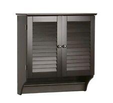 Bathroom Storage Wall Mounted Cabinet Medicine Shelf Organizer Cupboard Wood...