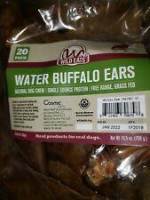 Wild Eats Water Buffalo Natural Ear Dog Chews - 40 Pack Grain Free Dog Treats