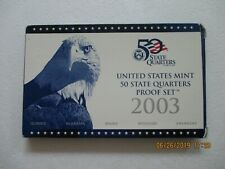 2003-S United States Mint Proof Quarters Set with COA 5 Coin Set In Original Box