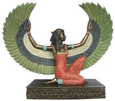 "8.5"" Egyptian Winged Isis Statue Sculpture Figurine Goddess of Magic Egypt Decor"