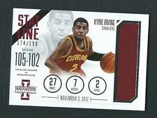 Kyrie Irving Cavaliers 2012-13 Innovation Stat Line RC Rookie Jersey 174/199