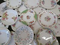 EXCELLENT  MISMATCH JOB LOT OF 10 VINTAGE CHINA  TEA PLATES, PARTIES TEAROOMS