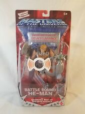 MOTU 200x Battle Sound He-Man w/Commemorative Video  MOC